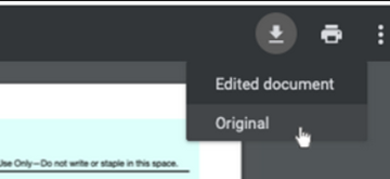 Download an edited PDF using Chrome browser