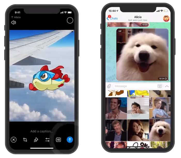 Telegram user get built-in Video editor, Animated Stickers, Speaking GIF
