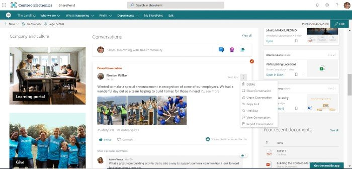 New Yammer SharePoint