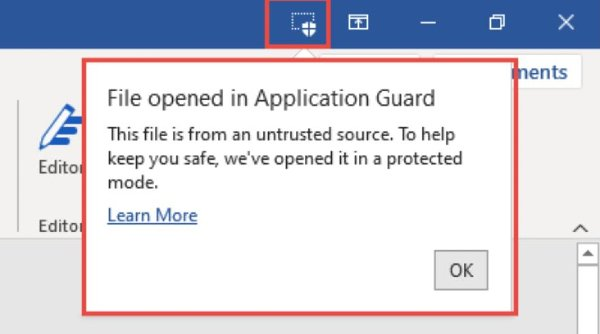 Microsoft Office Application Guard