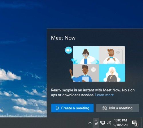 Windows 10 Skype Meet Now