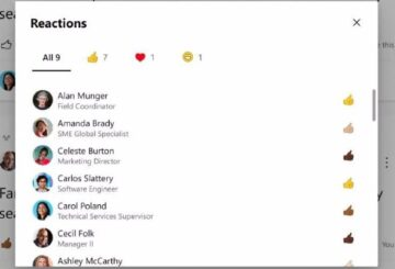 Yammer Reactions