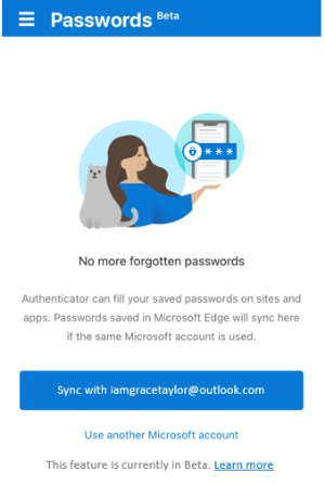 Microsoft Password Manager