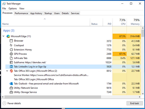 Task Manager to get Eco Mode and better Edge process management
